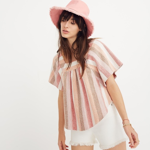 Madewell Butterfly Blouse Texture & Thread XS